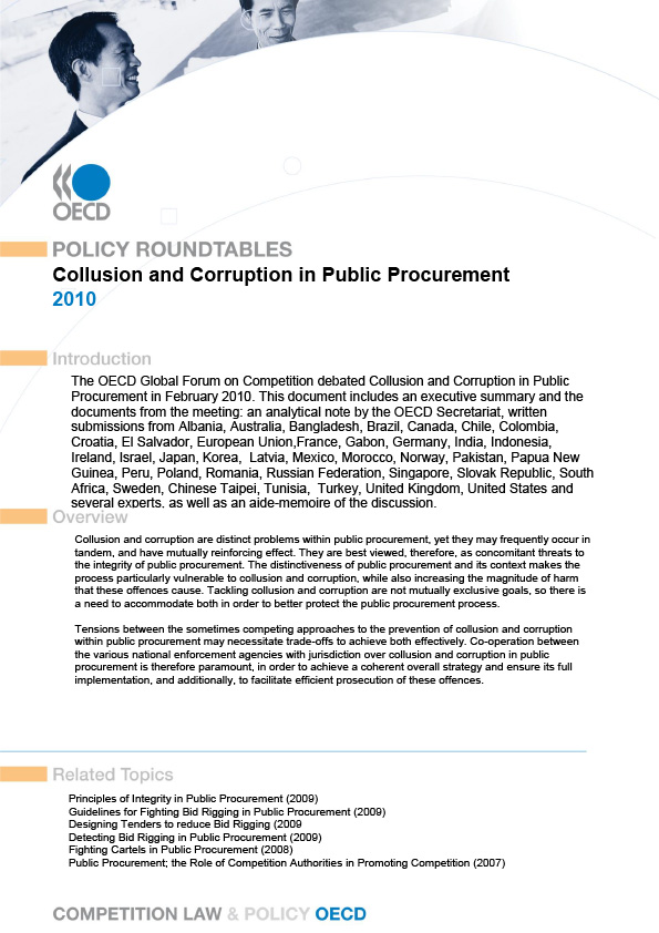 Collusion and Corruption in Public Procurement (OECD)